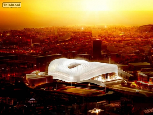 Thinkfoot orange v lodrome marseille album visuels 3d nouveau stade v lodrome 2014 - Coucher de soleil marseille ...