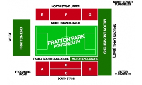 Plan Fratton Park