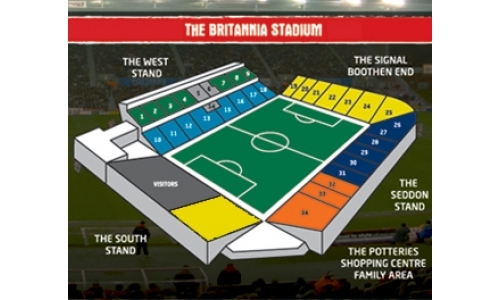Plan The Britannia Stadium