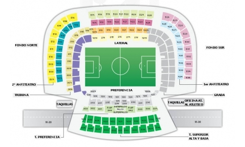 Plan Stade Vicente Calderón