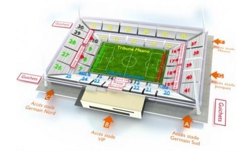 Plan Stade Auguste Delaune