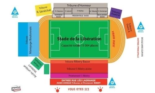 Plan Stade de la Libération