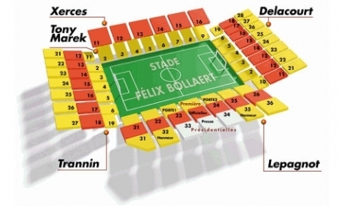 Plan Stade Félix Bollaert-Delelis